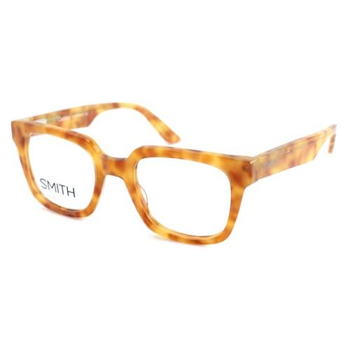 Smith Unisex Eyeglasses Orange Havana Square Cashout 2J3 Full Rim 49 21 140