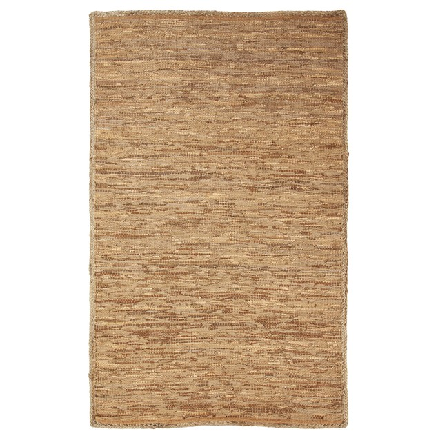 Hand-Woven Altay Leather, Cotton, and Jute Area Rug