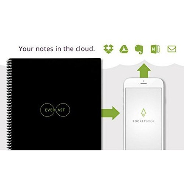 Rocketbook Smart Reusable Notebook Bundle (Rocketbook + PenStation + 1 Pen)