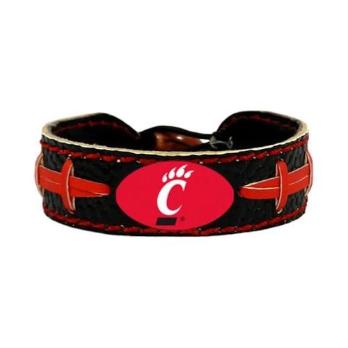 Cincinnati Bearcats Team Color NCAA Gamewear Leather Football Bracelet