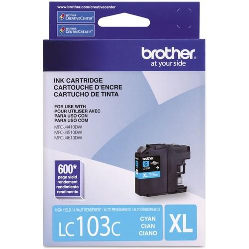 Brothers BRTLC103C United STATIONERS (OP) Ink CART LC103C,LC-103C 600PG Cyan 1/EA