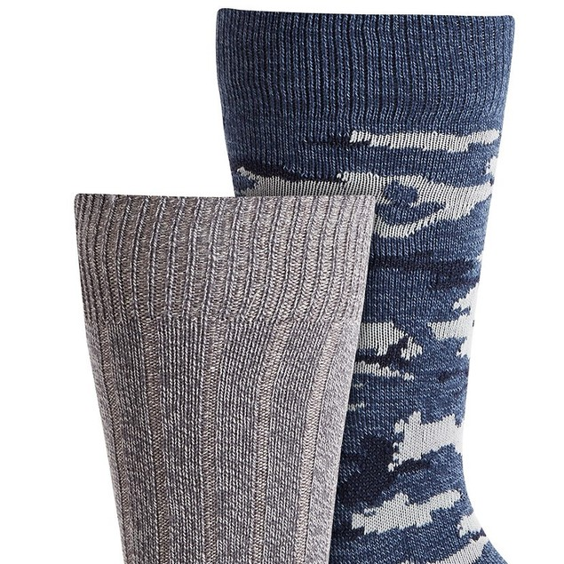 Gold Toe Men's 2-Pk. Camo Socks Blue Size Regular