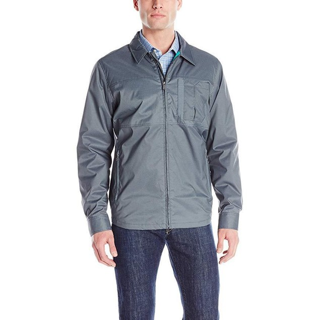 prAna Men's Hardwin Shirt Jacket, Blue Jean, Large