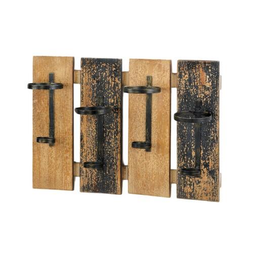 Koehler Rustic Wall Mounted Wine Rack
