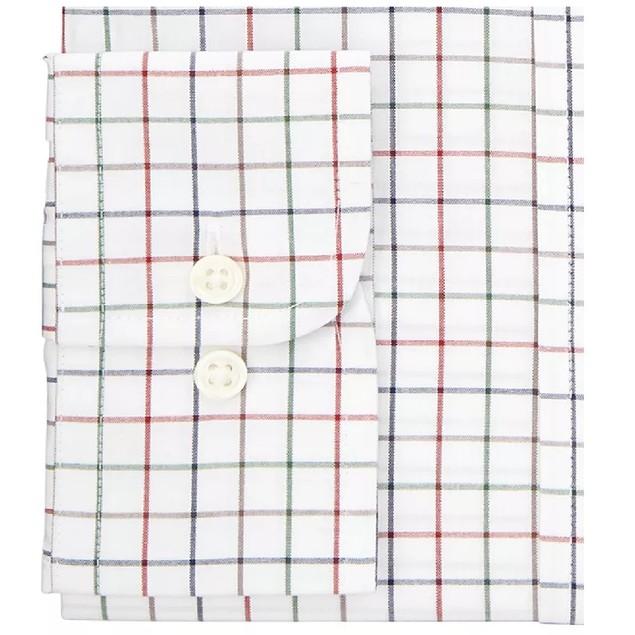 Club Room Classic/Regular Fit Stretch Dress Shirt White 15.5x32-33