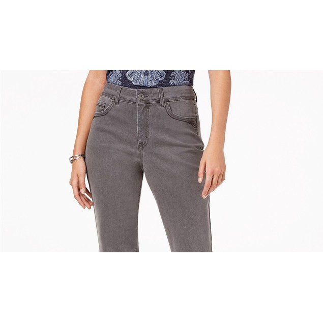 Style & Co Women's Tummy-Control Straight-Leg FashionGray Size 8