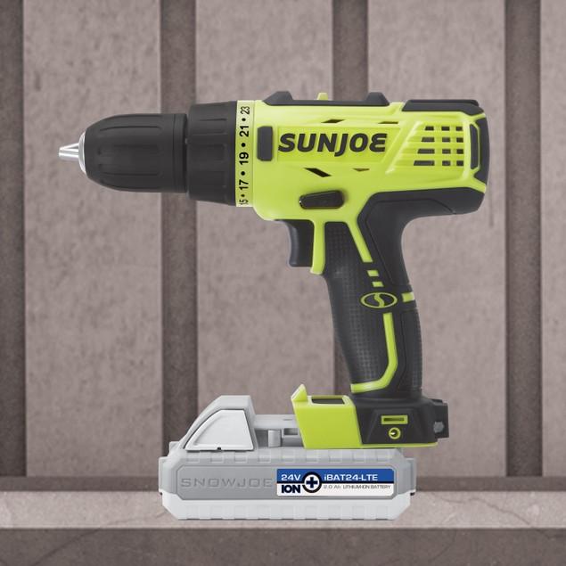 Sun Joe 24V Lithium iON Cordless Drill Driver