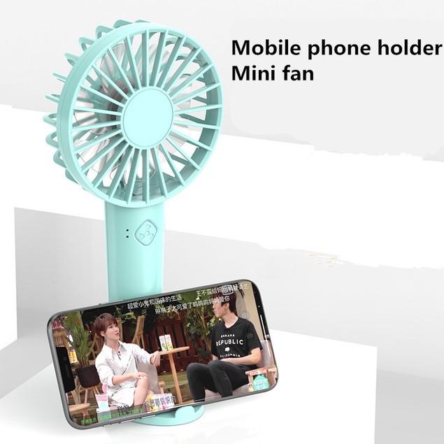 Portable Mini Fan Student Desktop Handheld Fan USB Rechargeable Small Fan
