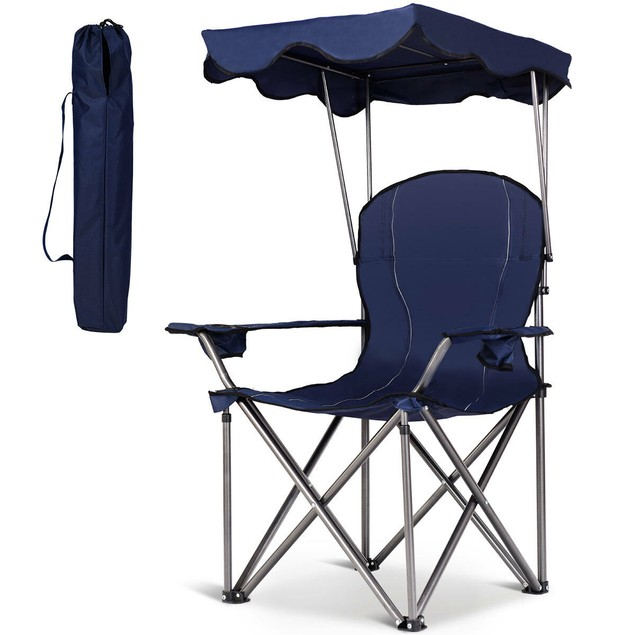 Portable Folding Canopy Chair w/ Cup Holders
