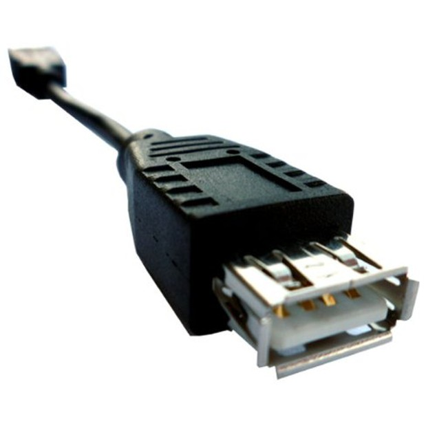 """Gray - USB Extension - Fully Rated 24 AWG """"A"""" to """"A"""" receptacle - 6 inches"""