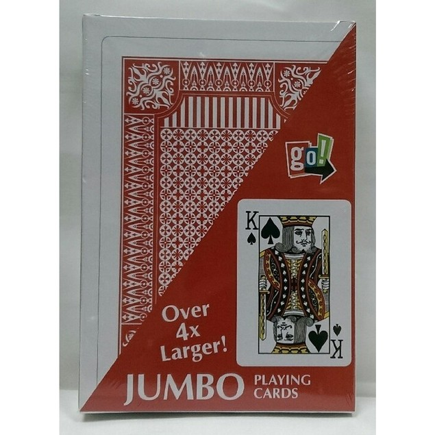 Jumbo Playing Cards, Card Games by Go! Games