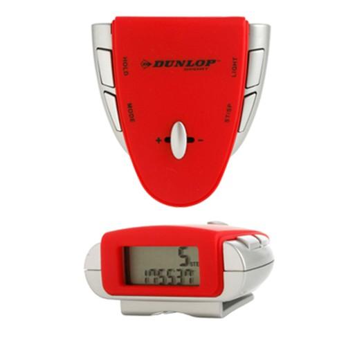 Dunlop Digital Watch Sport Red Hiker Pedometer with Belt