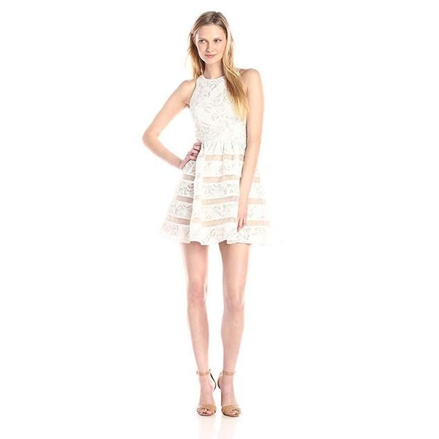 Aidan by Aidan Mattox Women's Sleeveless Lace Cocktail Party Dress SZ: