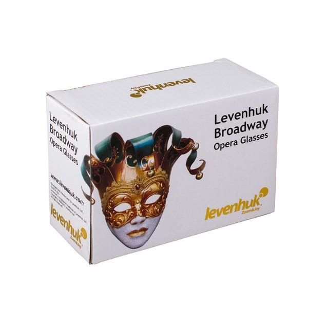 Levenhuk Broadway 325N Opera Glasses lorgnette with LED light - Red