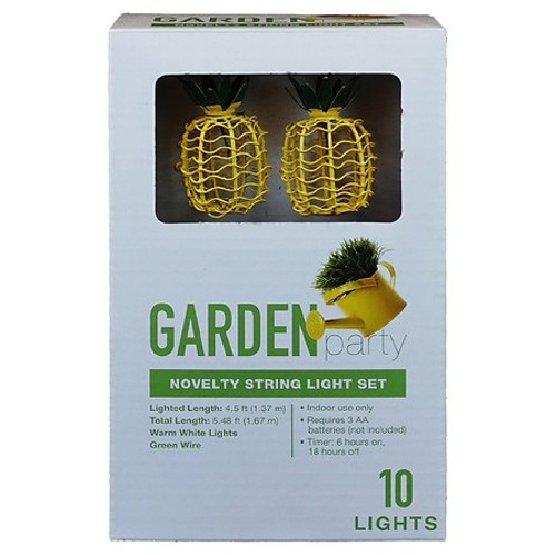 Garden Party Novelty String Warm White Lights Set for Indoor Use, 10 Count