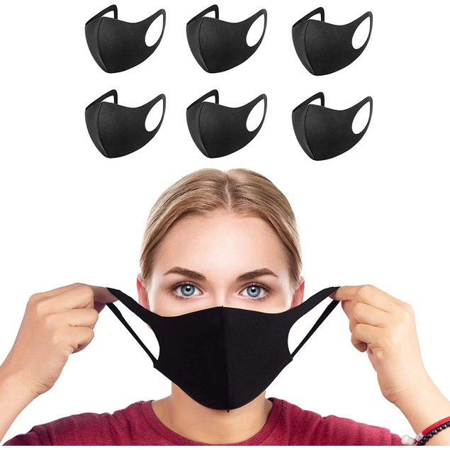 6-Pack Reusable Washable Non-Medical Face Masks