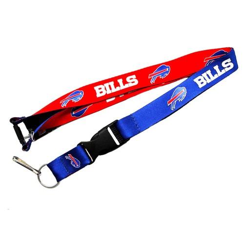 Buffalo Bills Reversible Lanyard Keychain Ticket ID Holder