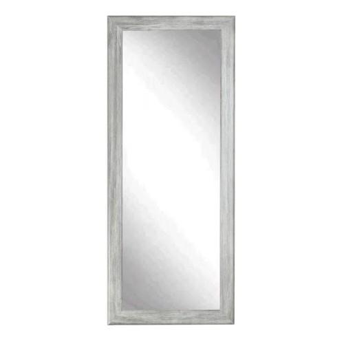 "BrandtWorks Perfect Durable Weathered Barnwood Floor Mirror - 33"" x 72"""