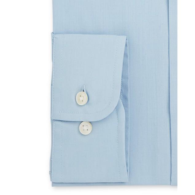 Club Room Men's Classic Fit Solid Dress Shirt Blue Size 16-32-33