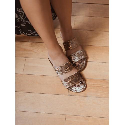 MUK LUKS® Women's Baylee Sandals-Gold