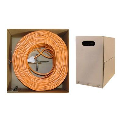 Bulk Cat6 Orange Ethernet Cable, 1000 foot
