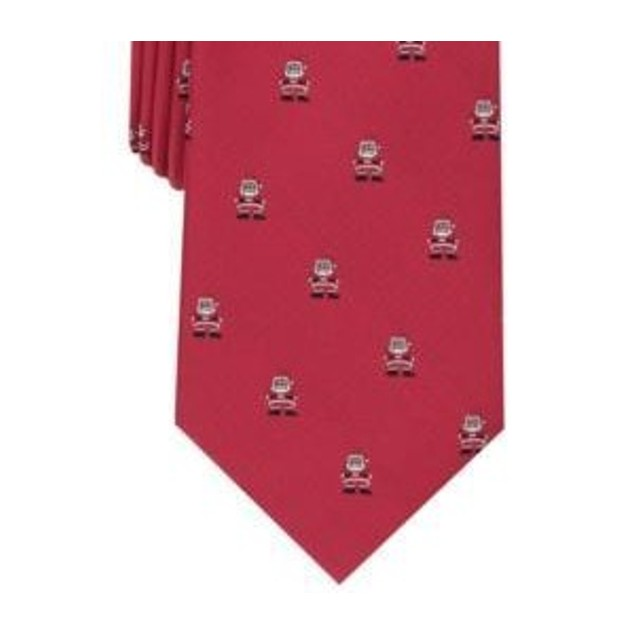 Club Room Men's Classic Santa Neat Tie Red Size Regular