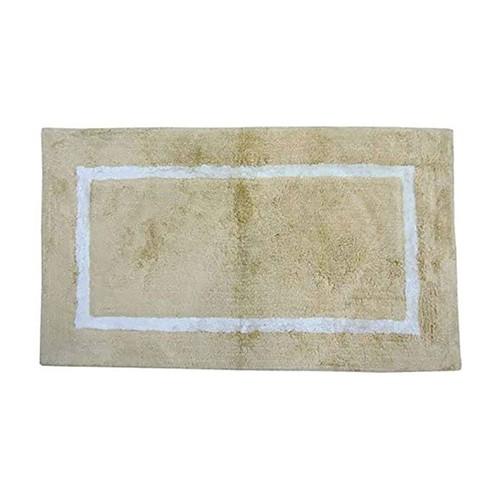 Spura Home Oriental Yellow Bath Mat W/White Border 18x24 for Bathroom