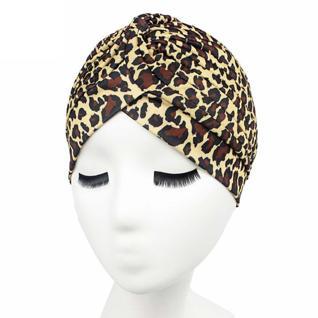 Women Printing Cancer Chemo Hat Beanie Scarf Turban Head Wrap Cap A