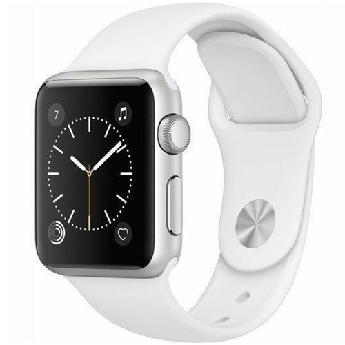 Apple Watch Series 1 42mm GPS Aluminum Silver Case with White Sport Band  - Grade A