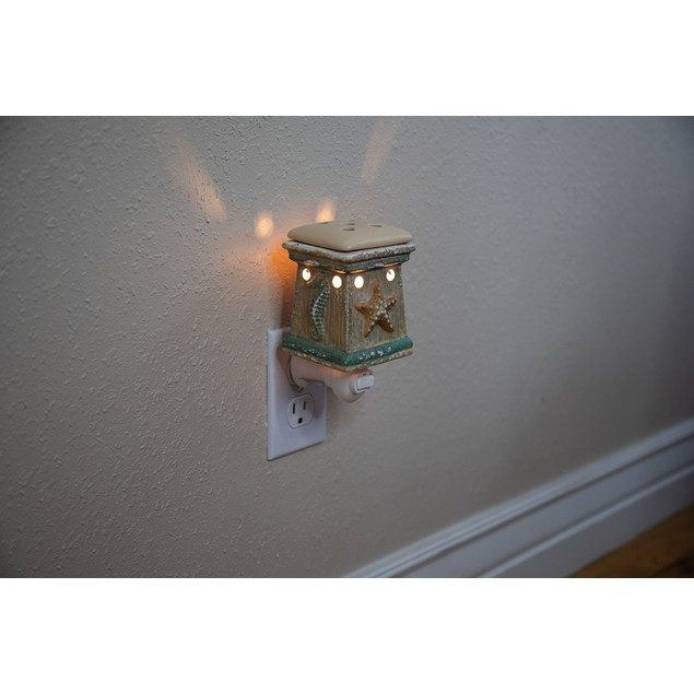 Scentsationals Coastal By the Sea Plug-in Accent Wax Warmer with Light Bulb