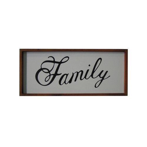 Melody Family Wall Art with Keyhole Hangers - White/Brown