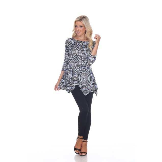 Mahi Printed Tunic Top - 2 Colors - Extended Sizes