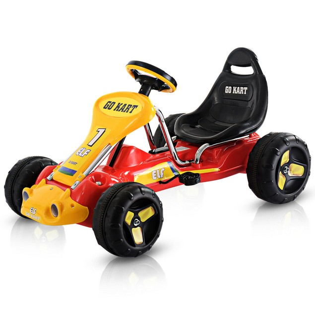 Go Kart Kids Ride On Car Pedal Powered Car 4 Wheel Racer Toy Stealth Outdoo
