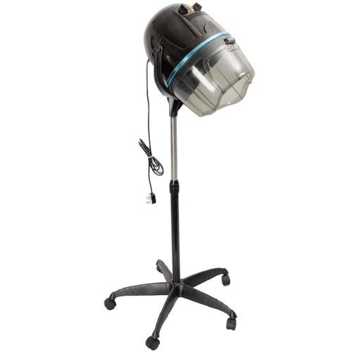 Costway Adjustable Stand Up Hood Floor Hair Bonnet Dryer Rolling Base Salon