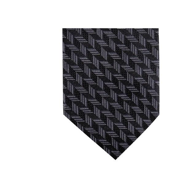 Ryan Seacrest Distinction Men's Phelps Slim Geo Silk TieBlack Size Regular