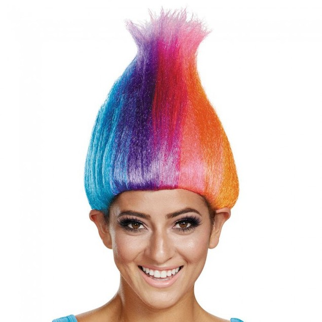 Rainbow Colored Wacky Wig Adult
