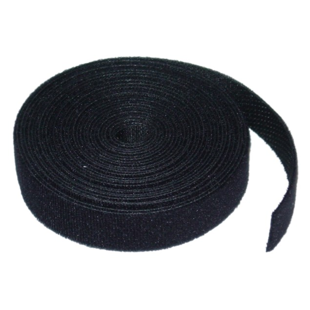 Cable Wholesale Hoop and Loop Cable Tie Roll, 3/4 inch x 5 Yards - Black