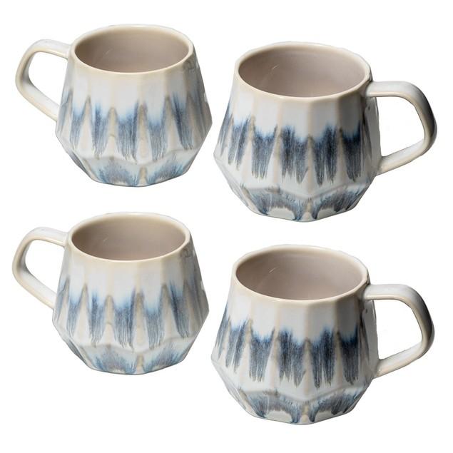 Homvare Porcelain Coffee Mug, Tea Cup, 2 Pack, 12 Ounces