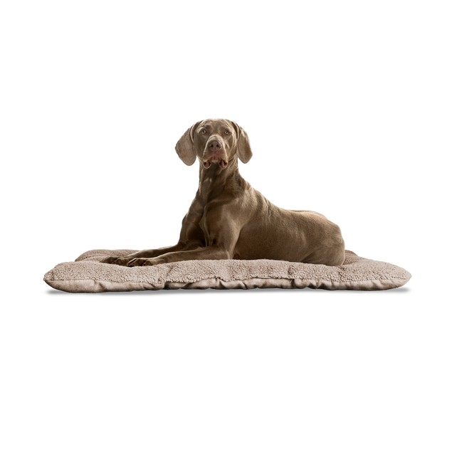 FurHaven Reversible Terry and Suede Pet Pillow Bed for Crates & Kennels