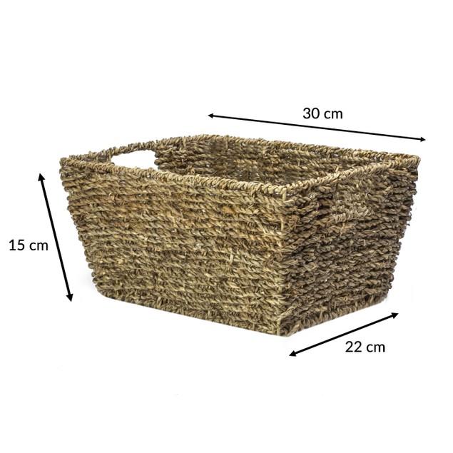 Natural Seagrass Storage Basket   MandW Set of 3