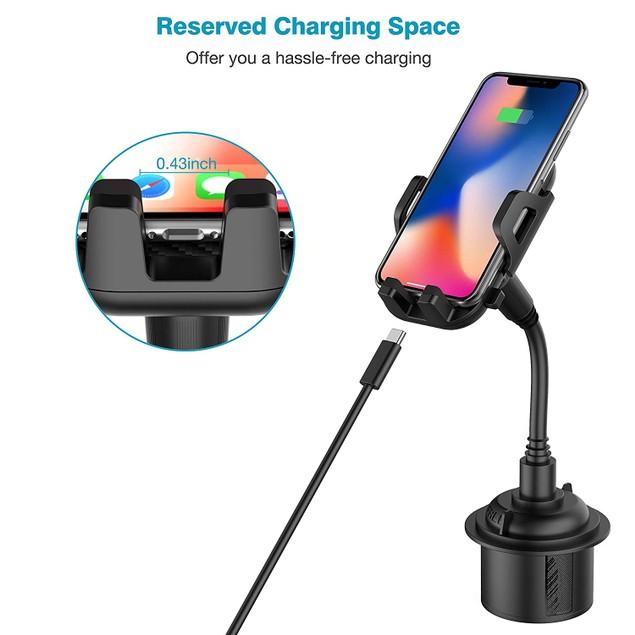 Universal Adjustable Gooseneck Car Cup Mount for Mobile Phones