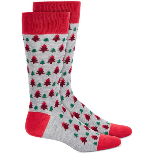 Alfani Men's Tree Socks Gray Size Regular