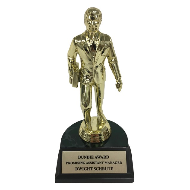 Dwight Schrute Promising Assistant Manager Dundie Award Trophy Office Gift