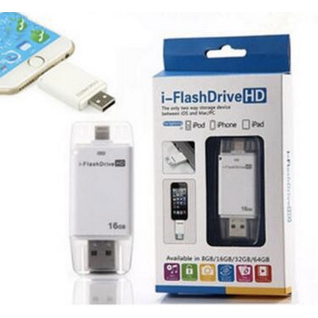 2 in 1 OTG USB Flash Drives For iPhone 5/5s6/6S/7/ipad for Apple