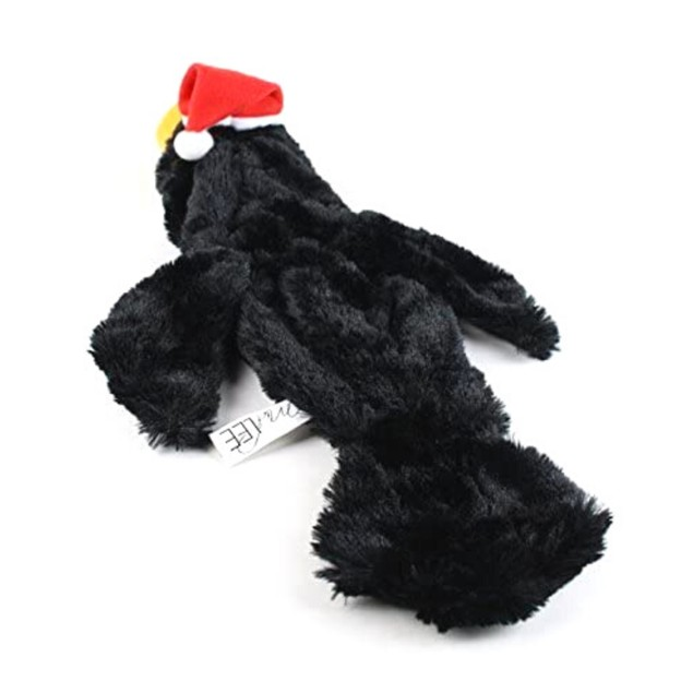 Midlee Toucan Stuffingless Dog Toy with Santa Hat