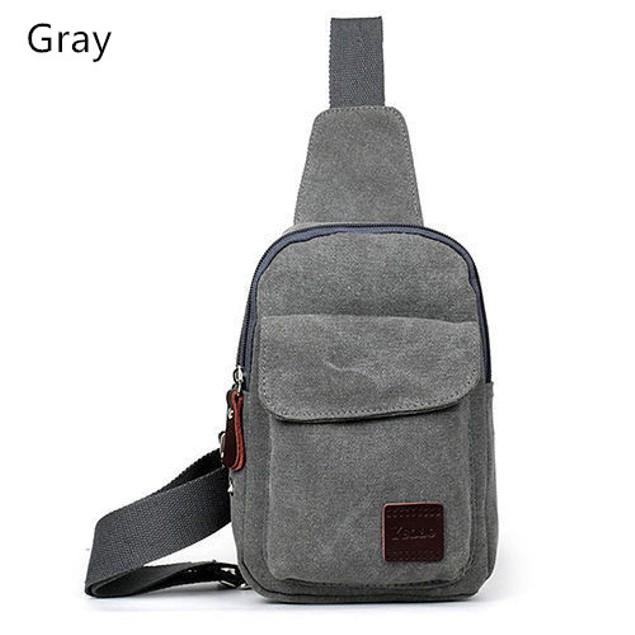 Men's Canvas Chest Bag
