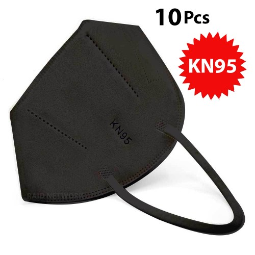 NEW 10 Pack KN95 BLACK Face Mask Cover Protection Respirator Masks KN 95