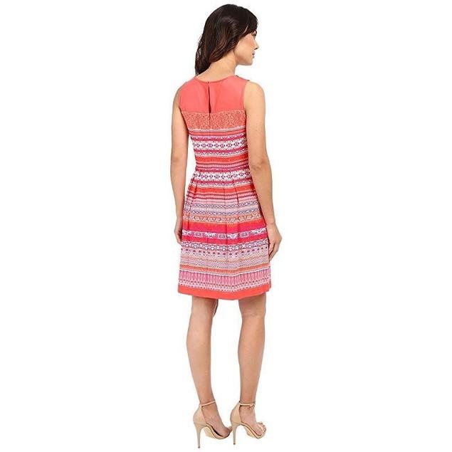 Christin Michaels Women's Pardenone Dress Coral/Purple Dress 10