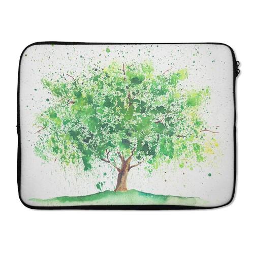 """EmbraceCase 17"""" Ink-Fuzed Laptop Sleeve - Tree of Life"""