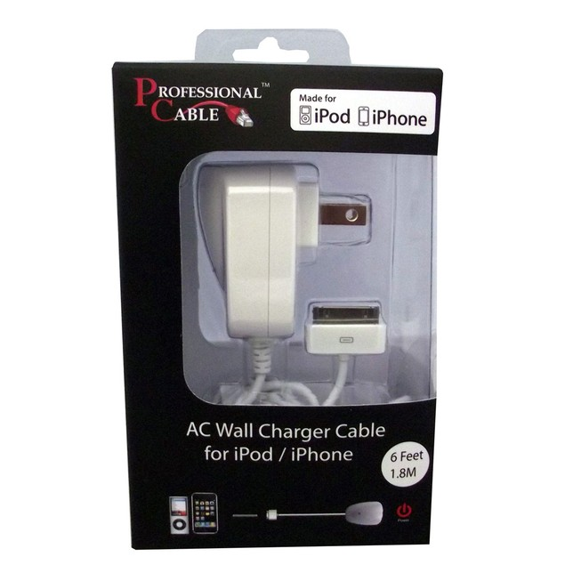 USB Wall Charger for iPod / iPhone/iPad - Charges 2.1A